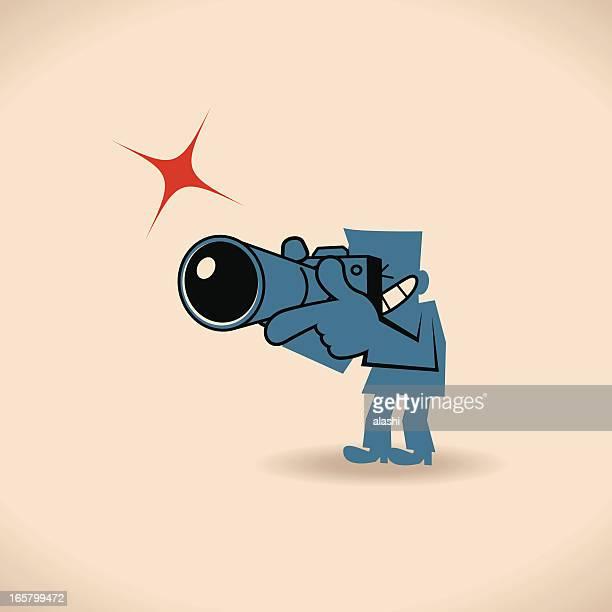 paparazzi photographer - film crew stock illustrations
