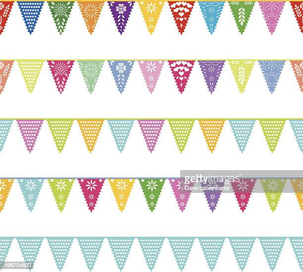 Papel Picado banners repeating patterns