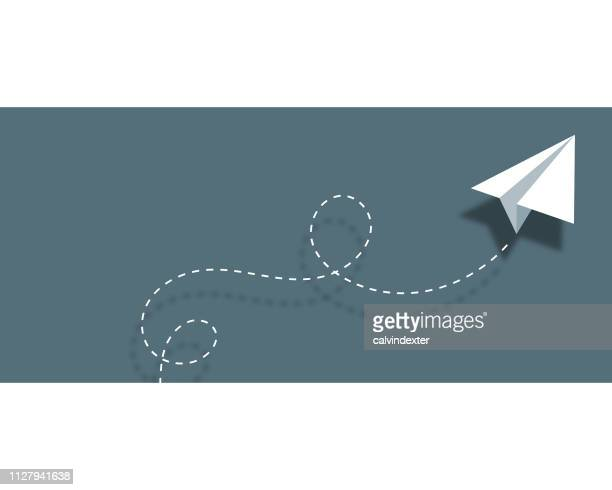 paper airplane background design business card - e mail stock illustrations