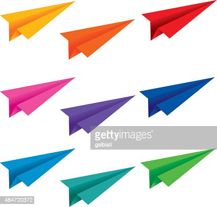 Paper airplane folds vector art getty images keywords airplane blueprint malvernweather Choice Image