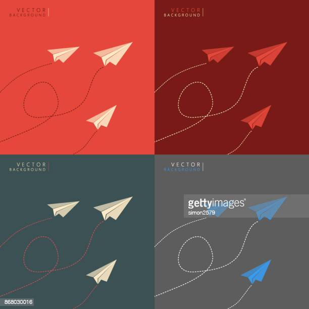 paper airplane - paper airplane stock illustrations, clip art, cartoons, & icons