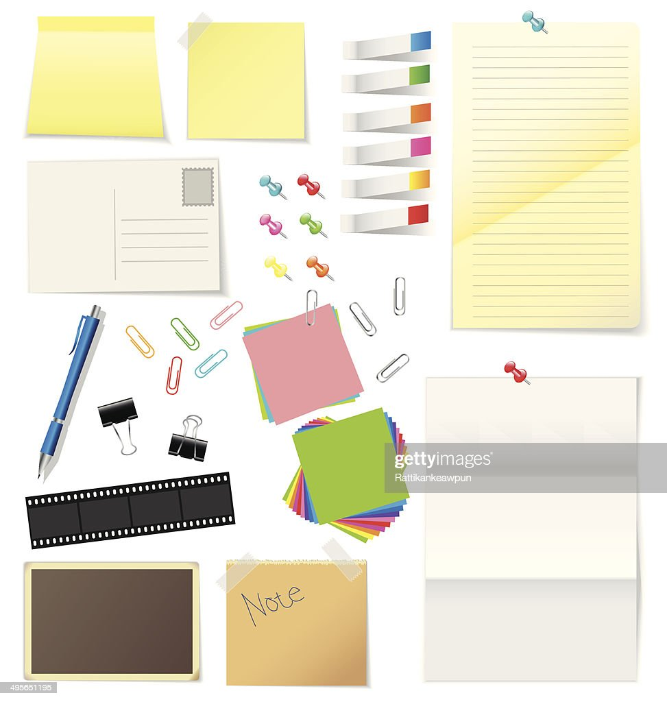 Paper and office supplies vector