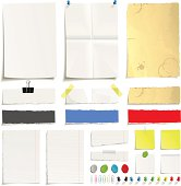 Paper and paperclip set