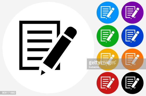 papier und bleistift. - schriftnachricht stock-grafiken, -clipart, -cartoons und -symbole