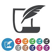 paper and Quill Icons - Graphic Icon Series