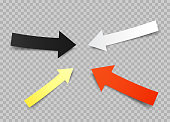 paper arrows set transparent background