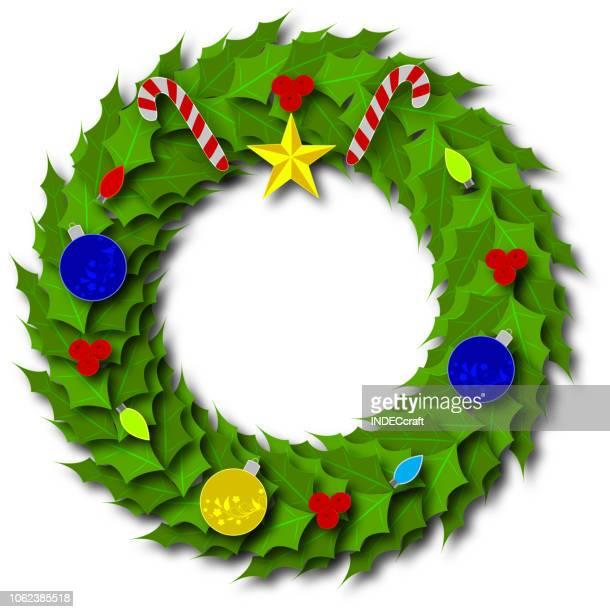 Paper Art Christmas Wreath
