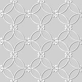 3D paper art Spiral Round Curve Cross Frame
