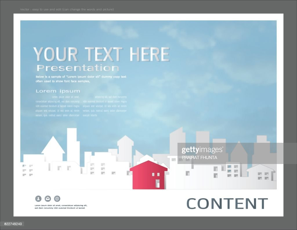 paper art style for presentation layout design template city