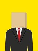 Paper Bag Face Businessman