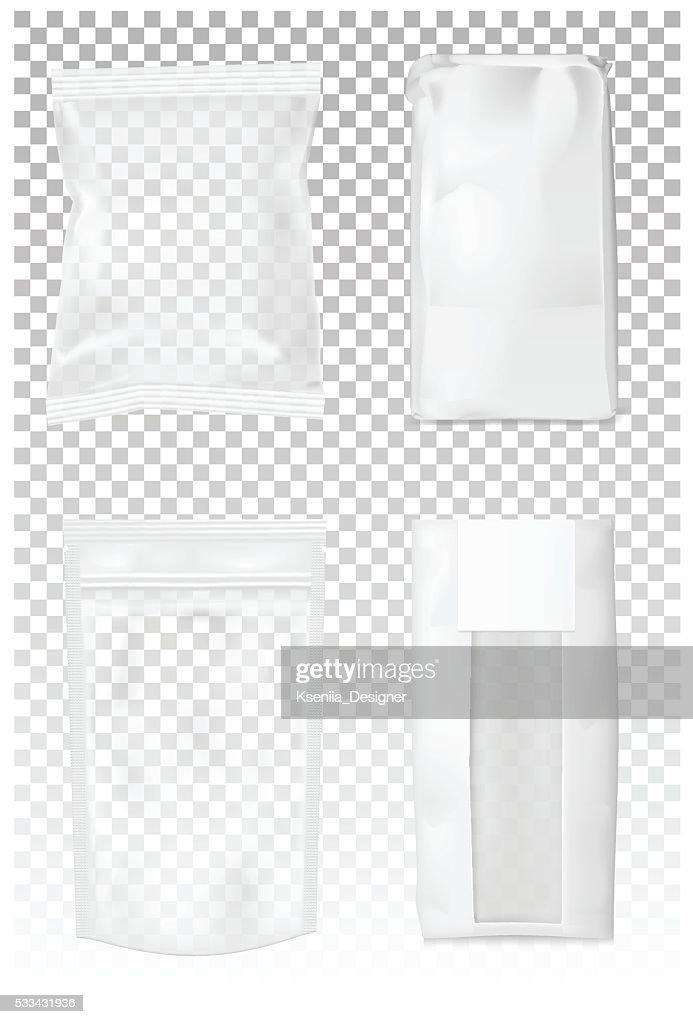 Paper bag for flour, tea, coffee, pasta, chips.