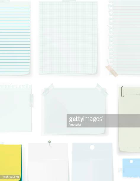 paper blank pages - paper clip stock illustrations, clip art, cartoons, & icons