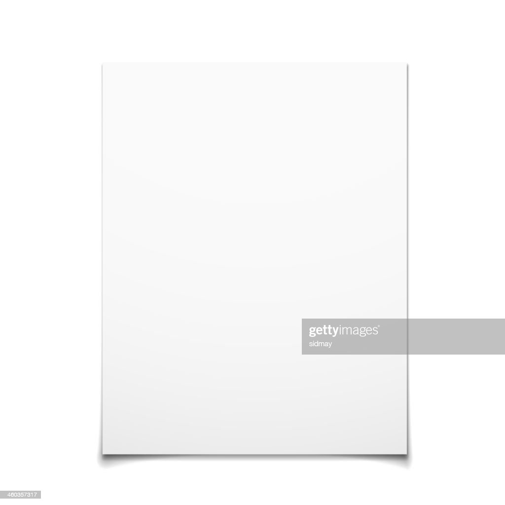 Paper Card Isolated On White Background