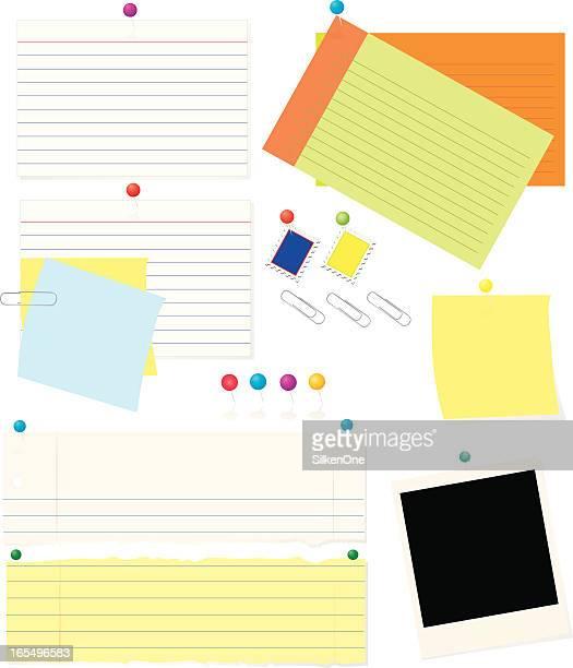 用紙、カード、その他 - インデックスカード点のイラスト素材/クリップアート素材/マンガ素材/アイコン素材