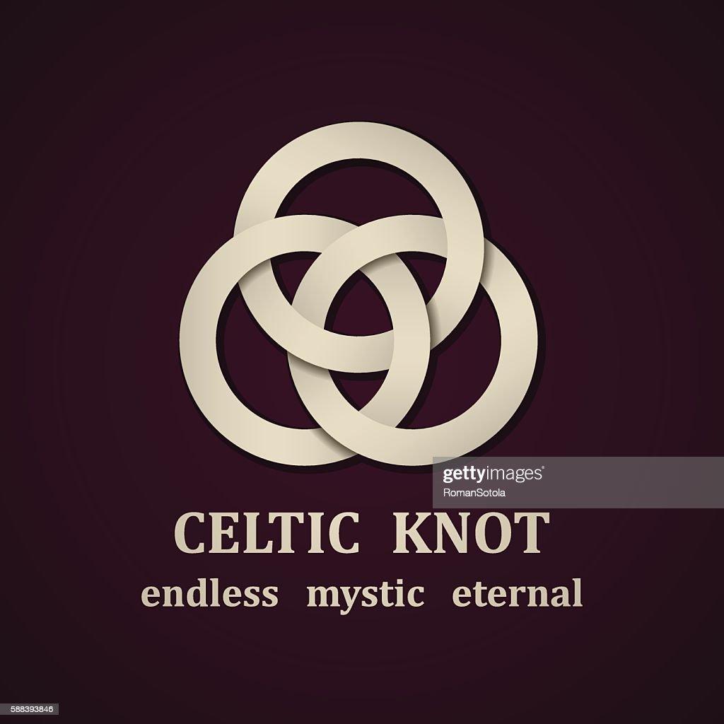 paper celtic knot symbol design template