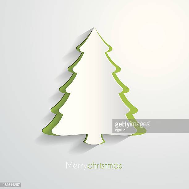 paper christmas tree - christmas trees stock illustrations