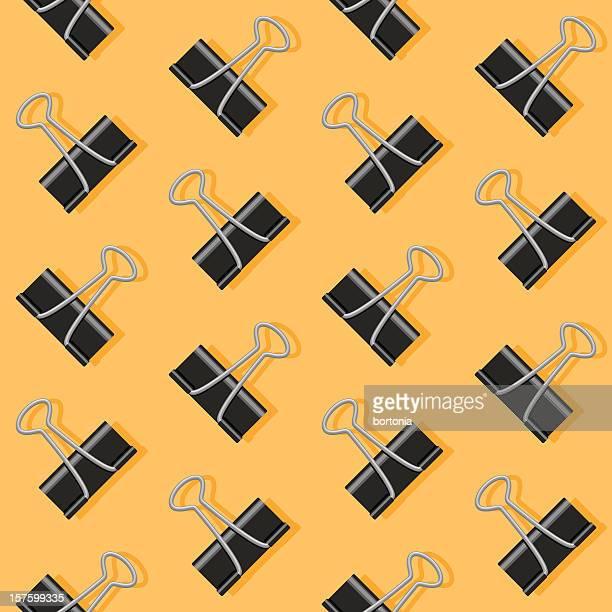 paper clip seamless pattern - binder clip stock illustrations