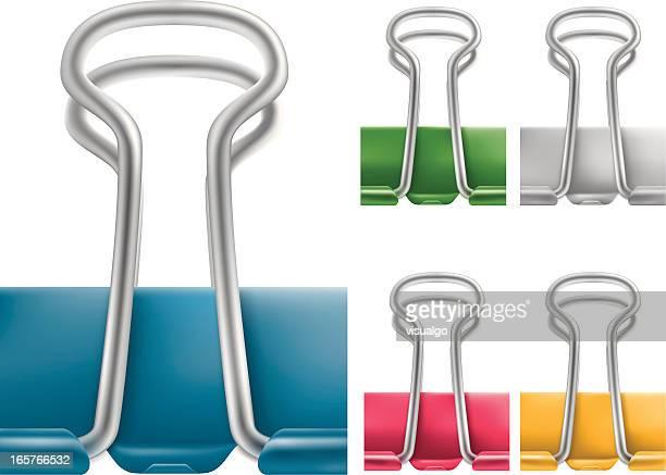 paper clip - binder clip stock illustrations
