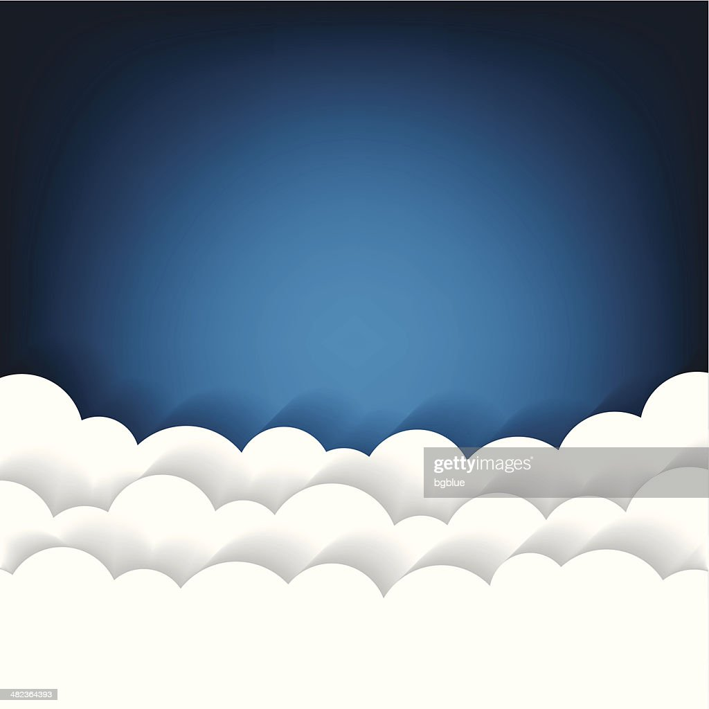 Paper clouds Background : stock illustration