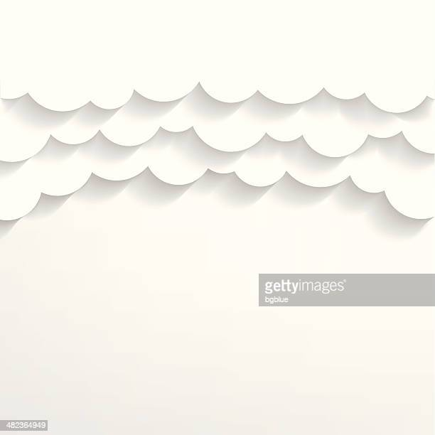 paper clouds background - cut or torn paper stock illustrations, clip art, cartoons, & icons