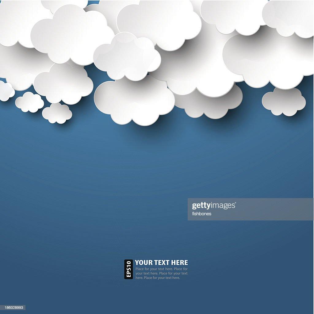 Nuvens de papel : Ilustração