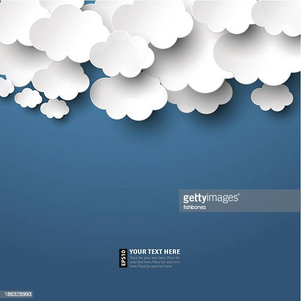 paper clouds - cloudscape stock illustrations, clip art, cartoons, & icons