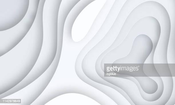 ペーパーカットの背景。灰色の抽象的な波の形-トレンディな3d デザイン - 地誌学点のイラスト素材/クリップアート素材/マンガ素材/アイコン素材