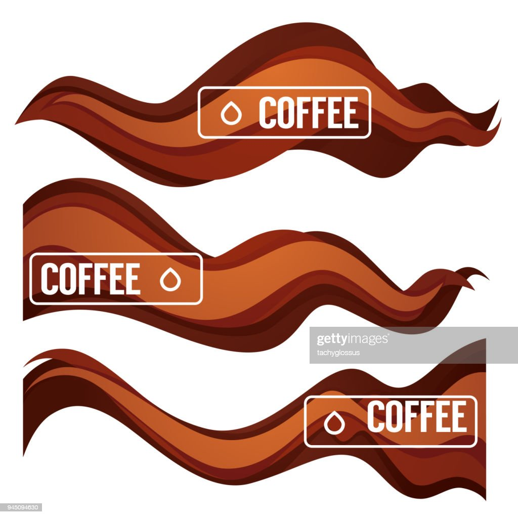 Paper Cut Coffee Flow Vector Design Element For Your Modern Labels, Emblems and Flyers