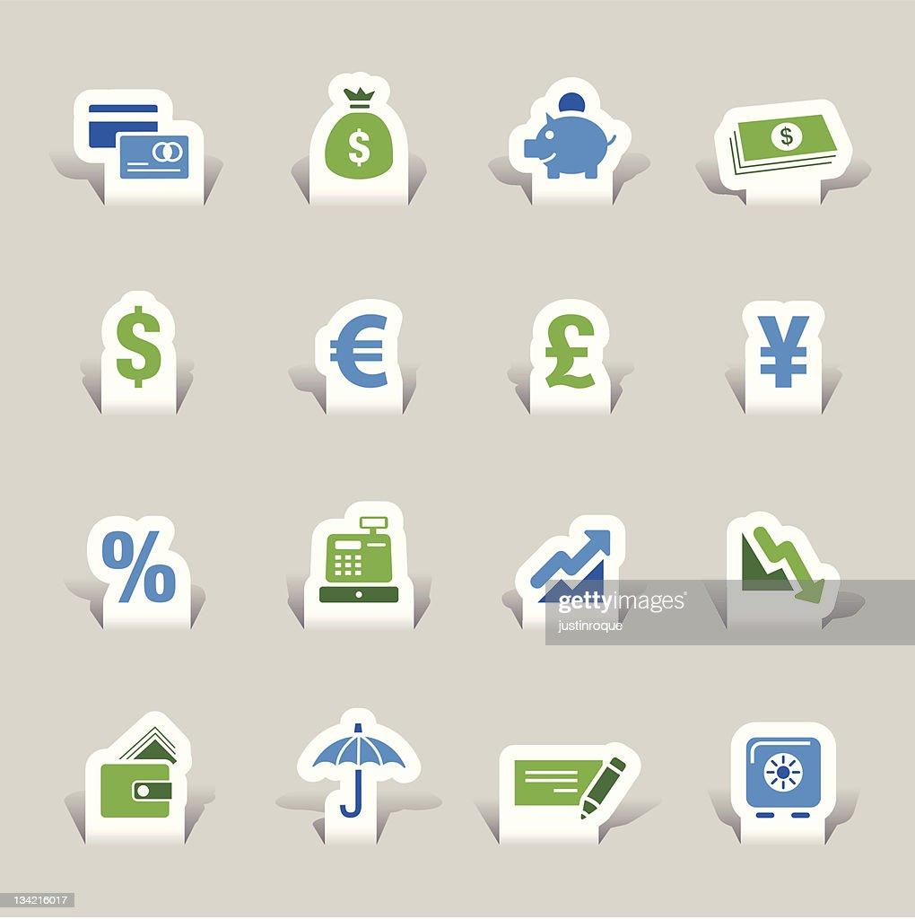 Paper Cut - Finance icons