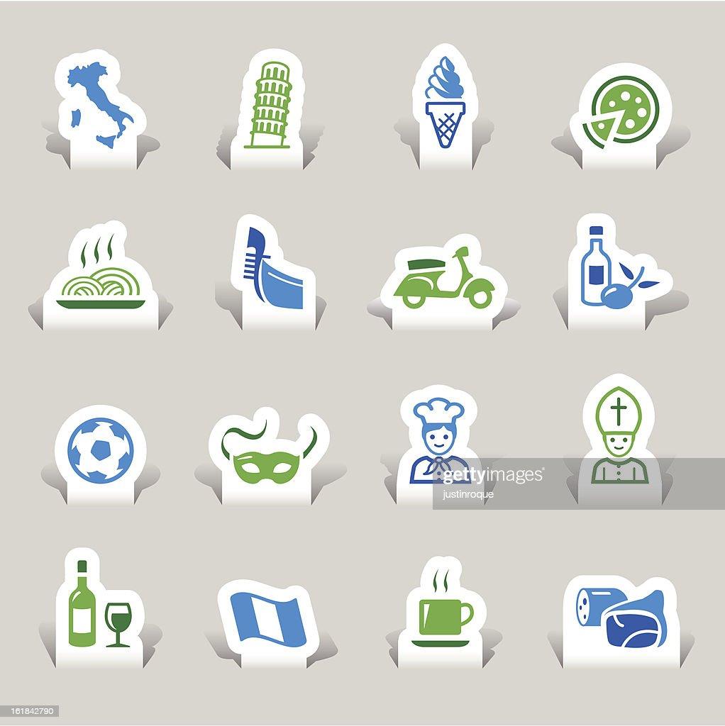 Paper Cut - Italian Icons