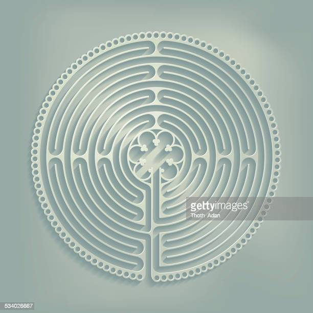 Paper cut labyrinth (Religious symbol)