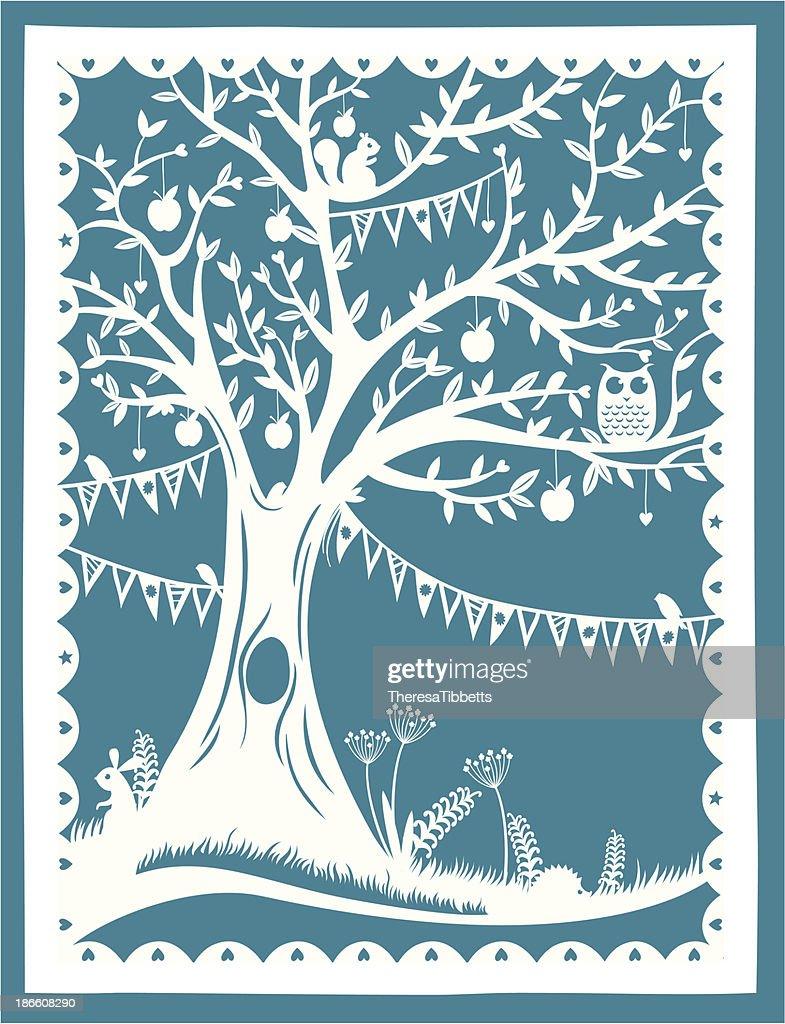 Paper Cut Tree