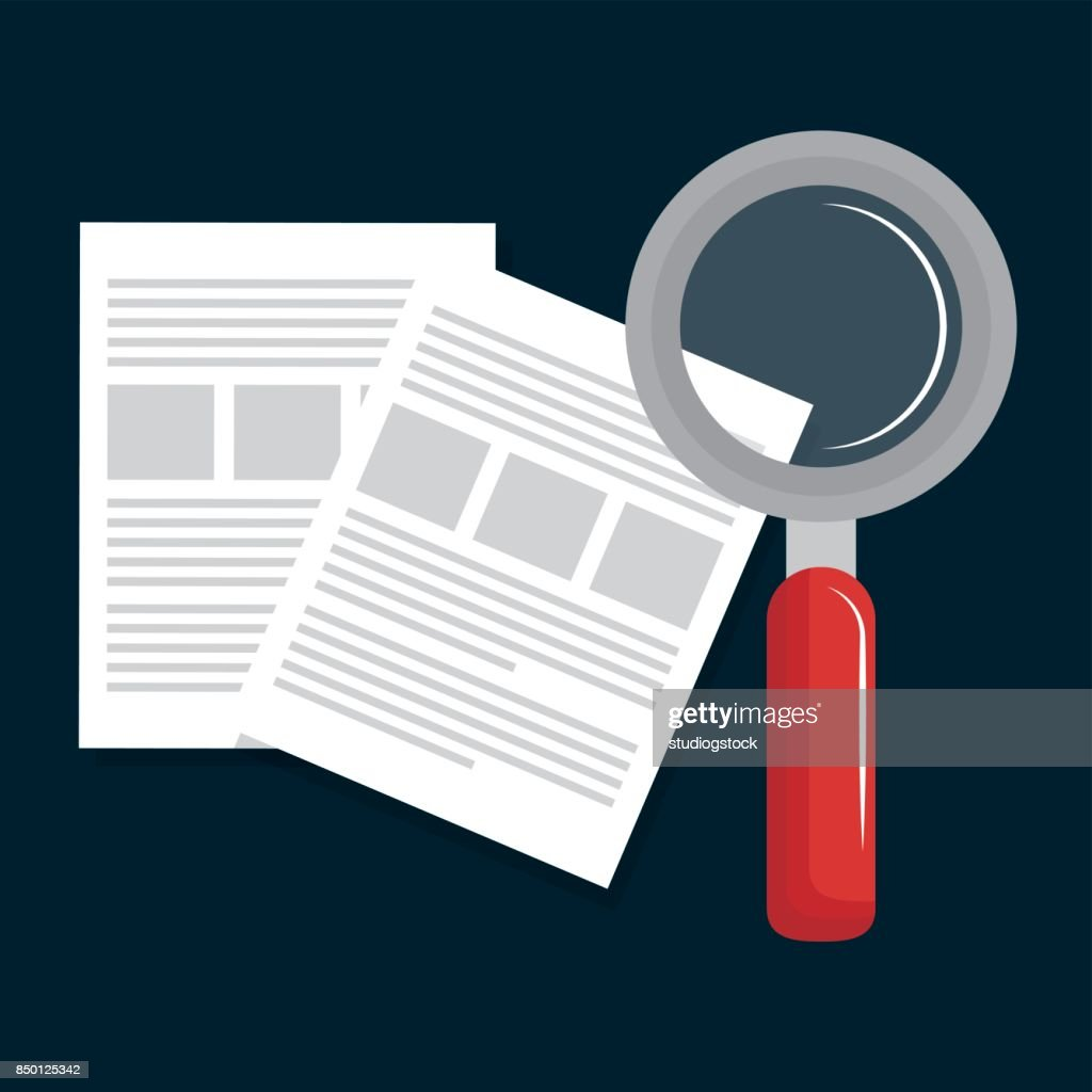paper document search magnifying