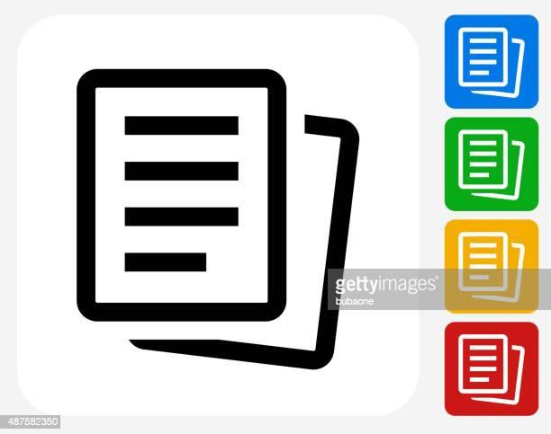 Paper Documents Icon Flat Graphic Design