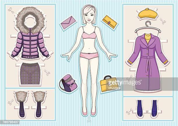 紙人形ます。 - 紙人形点のイラスト素材/クリップアート素材/マンガ素材/アイコン素材