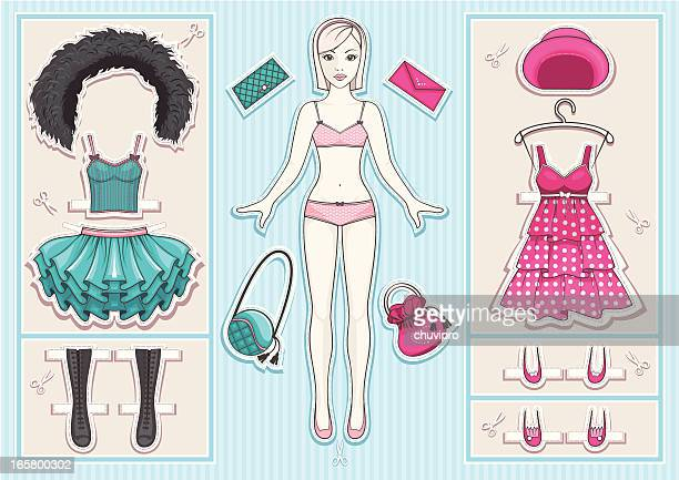 paper doll - en búsqueda stock illustrations
