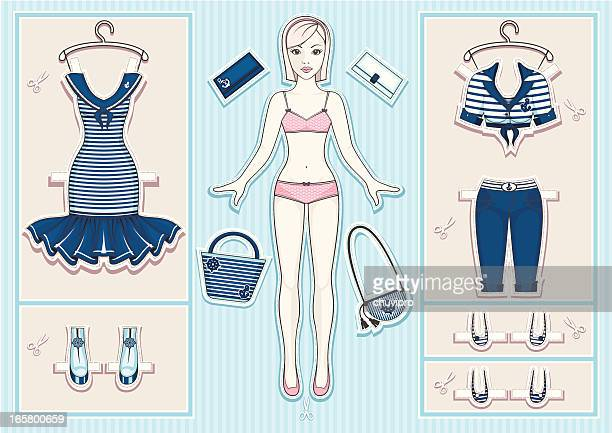 paper doll. - en búsqueda stock illustrations