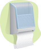 paper door Illustration towel wall mounted