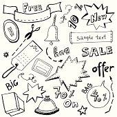 Paper effect labels/ Sale Signs/продажа