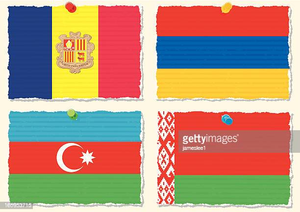 paper flags - armenian flag stock illustrations
