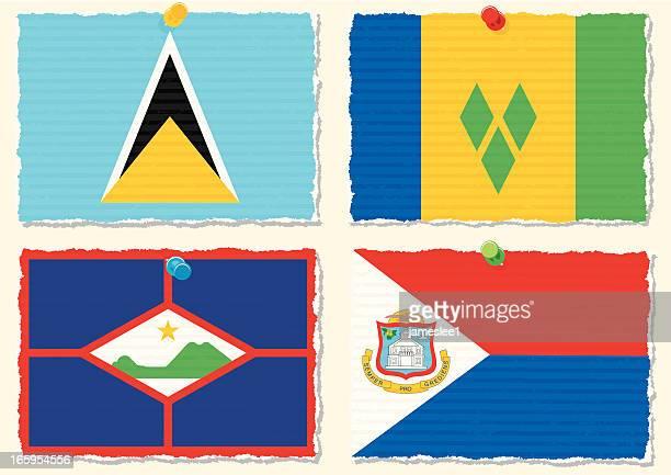 紙の旗 - シント・ユースタティウス島点のイラスト素材/クリップアート素材/マンガ素材/アイコン素材