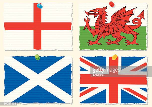papier flags - scotland stock-grafiken, -clipart, -cartoons und -symbole