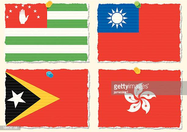papier flags - georgien stock-grafiken, -clipart, -cartoons und -symbole