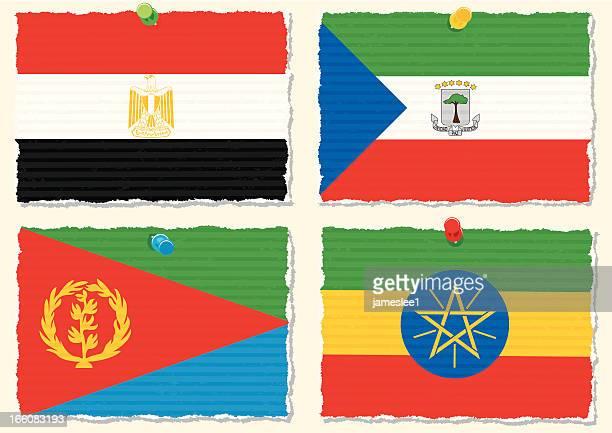 paper flags - ethiopia stock illustrations, clip art, cartoons, & icons