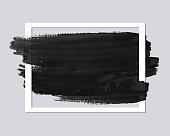 Paper frame with brush stroke