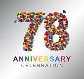 Paper Heart 78 years anniversary