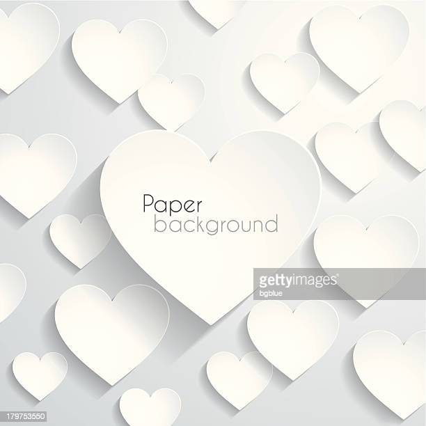 paper heart background - social grace stock illustrations