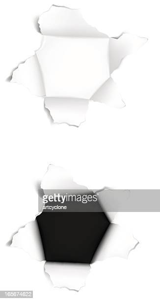 paper hole - hole stock illustrations