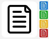 Paper Icon Flat Graphic Design