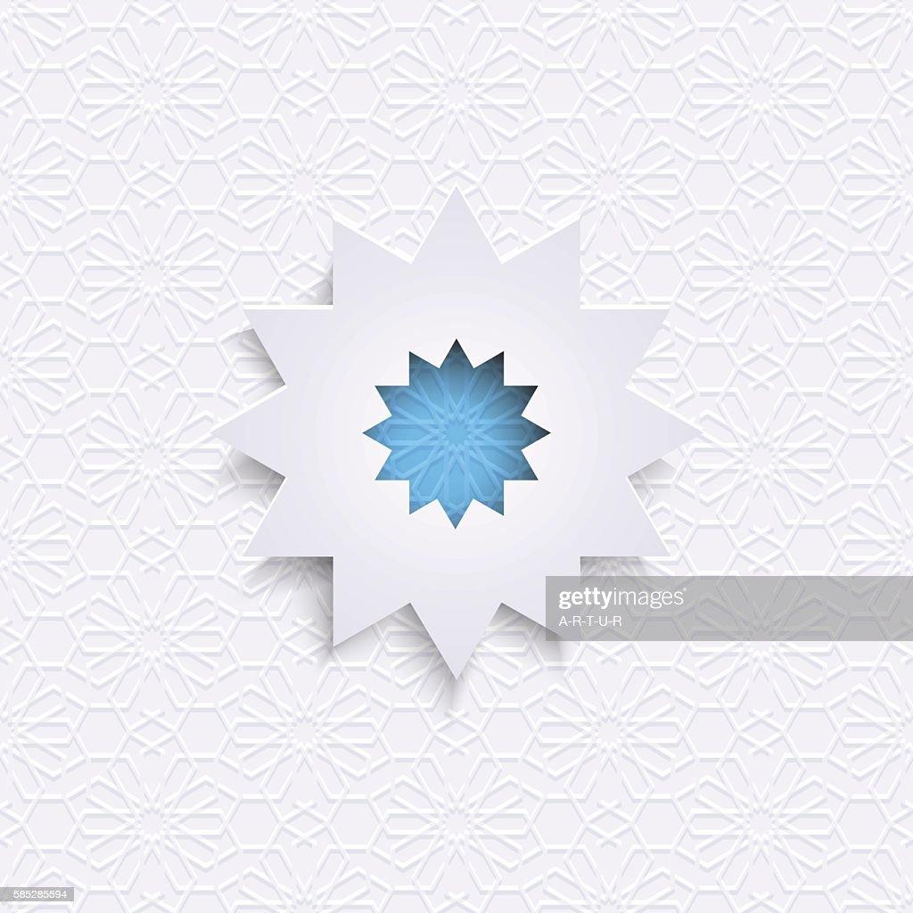 Paper Islamic design - geometric Ornament in Arabic Style